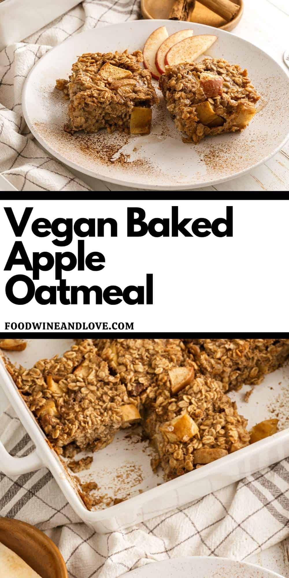 Vegan Baked Apple Oatmeal