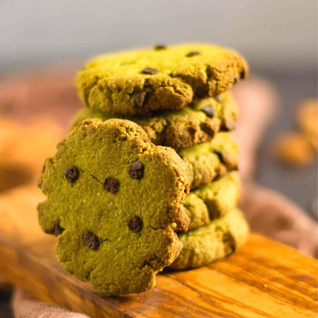 Mediterranean Diet Vegan Matcha Cookies